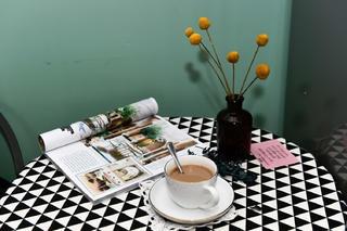 小型工作室混搭装修茶几特写