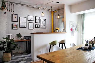 小型工作室混搭装修厨房设计图