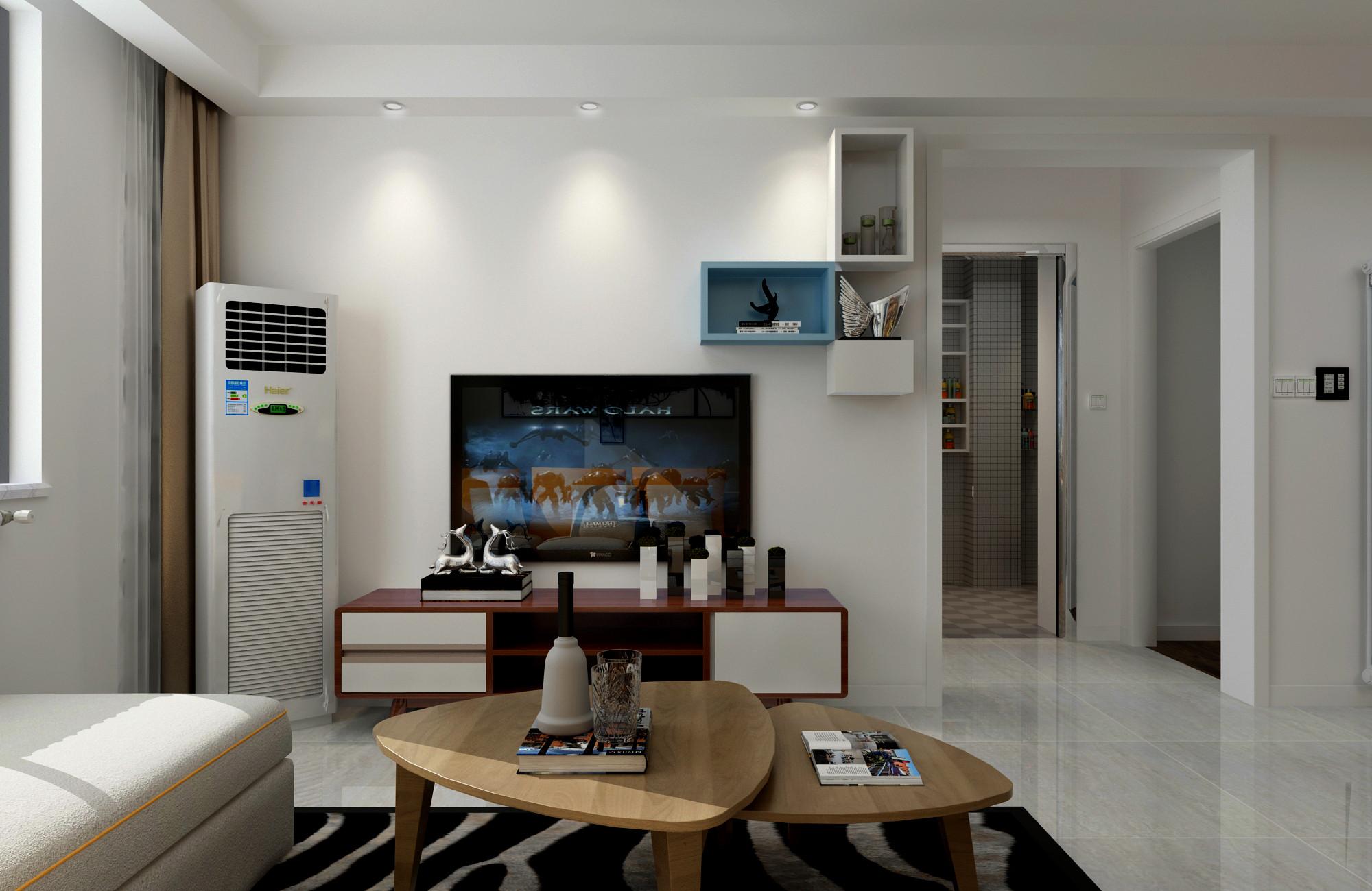 宜家三居装修电视背景墙图片