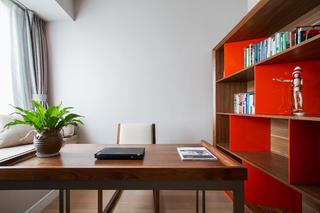 107平新中式三居装修书房布置图