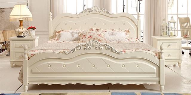 韩式田园床 欧式公主床白色实木床