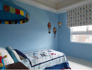 美式四居装修男孩房设计图