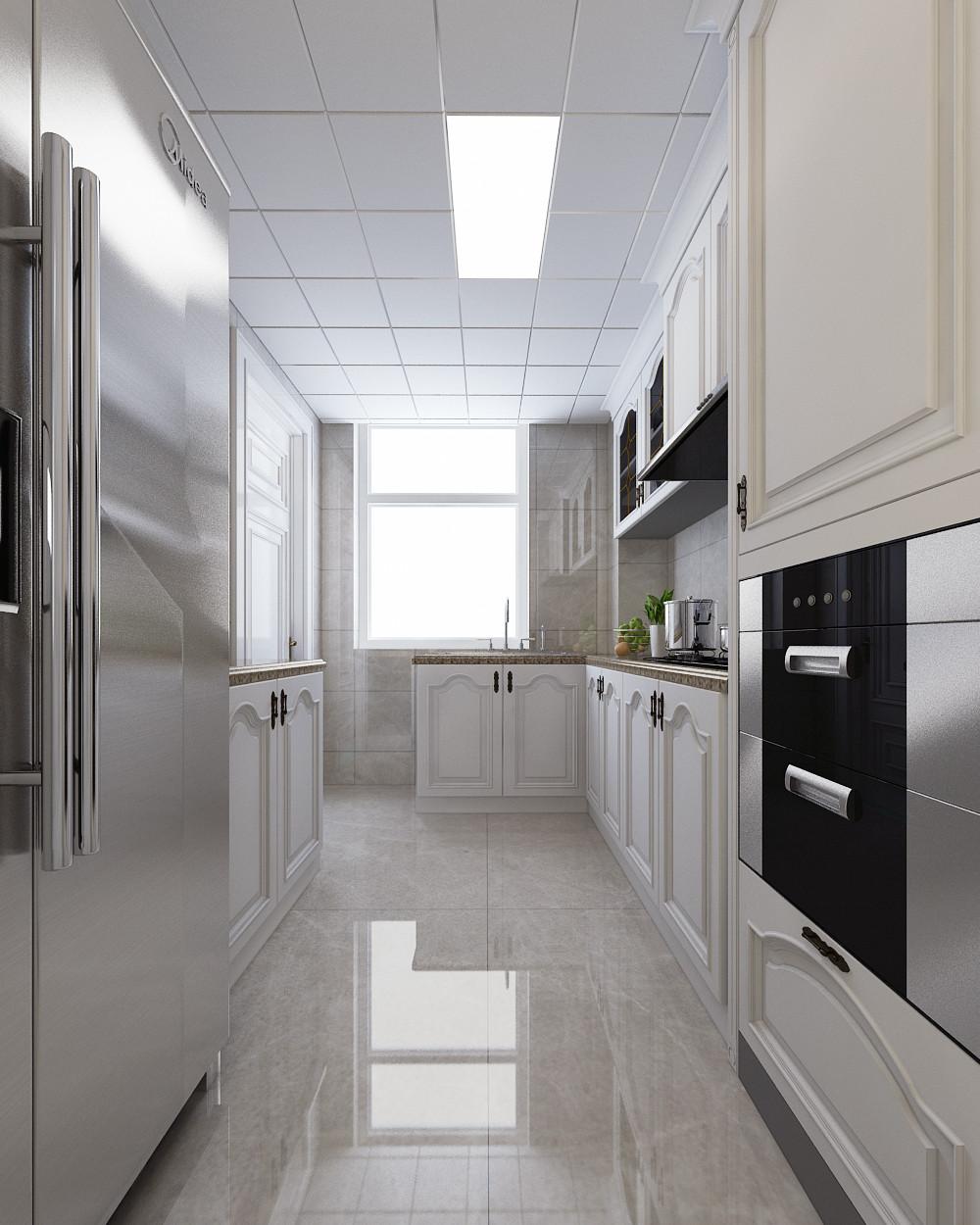大户型时尚欧式家装修厨房效果图