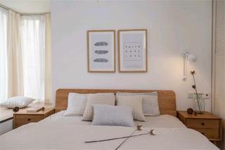 北欧简雅三居装修卧室背景墙图片