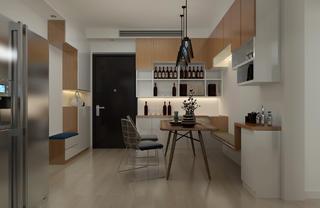 100平三居室装修开放式玄关设计