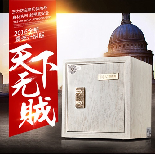 王力防盗柜 45cm高 3C认证保险箱 防火防盗柜保险柜