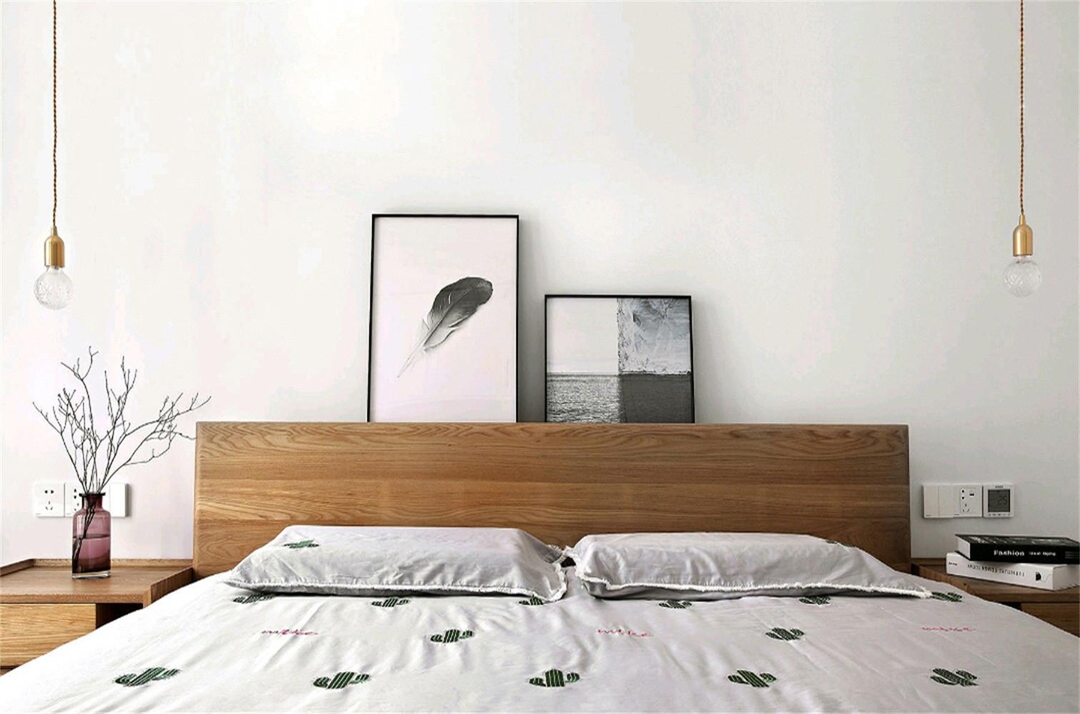 北欧三居装修床头背景墙图片