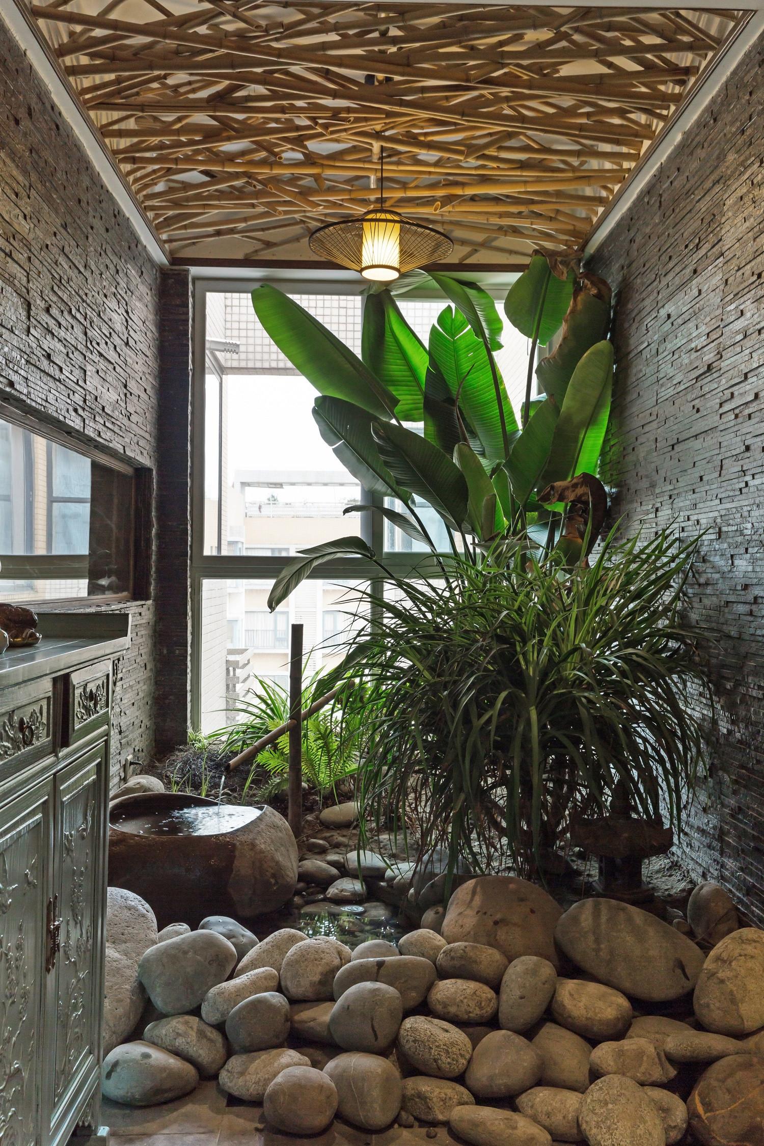 150平中式风格家入户花园