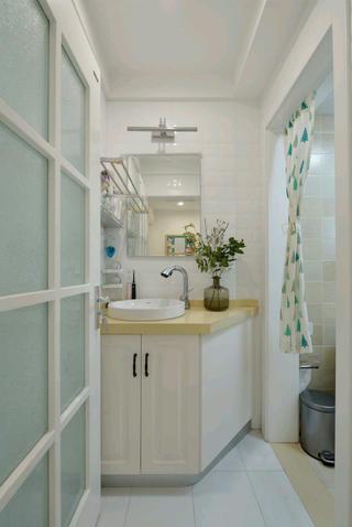 北欧二居室小户型装修洗手台图片