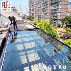 【万增系统节能门窗】张江镇供应优质 露天阳台门窗 玻璃房 草绿色主体