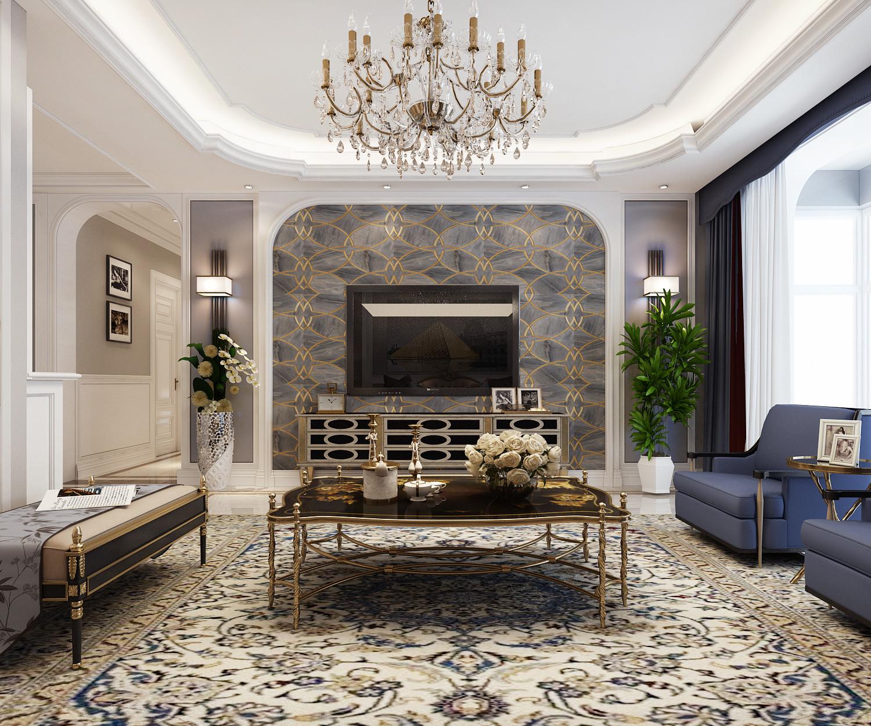大户型时尚欧式家装修电视背景墙图片