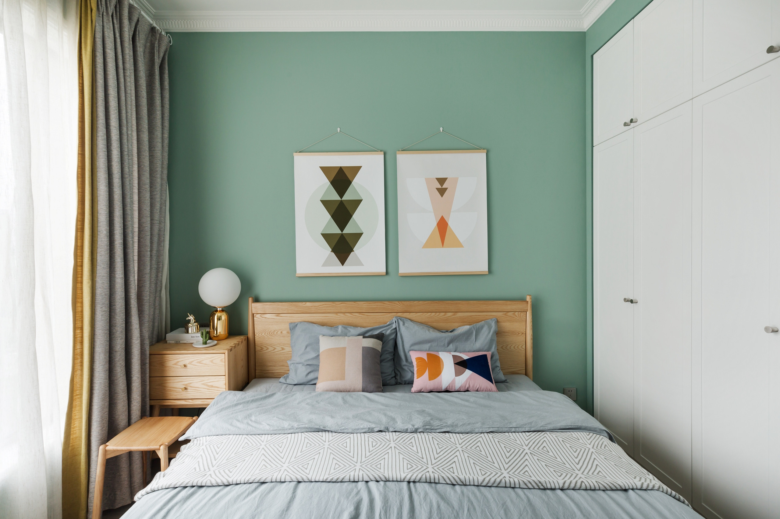 北欧风格90平米卧室卧室背景墙设计