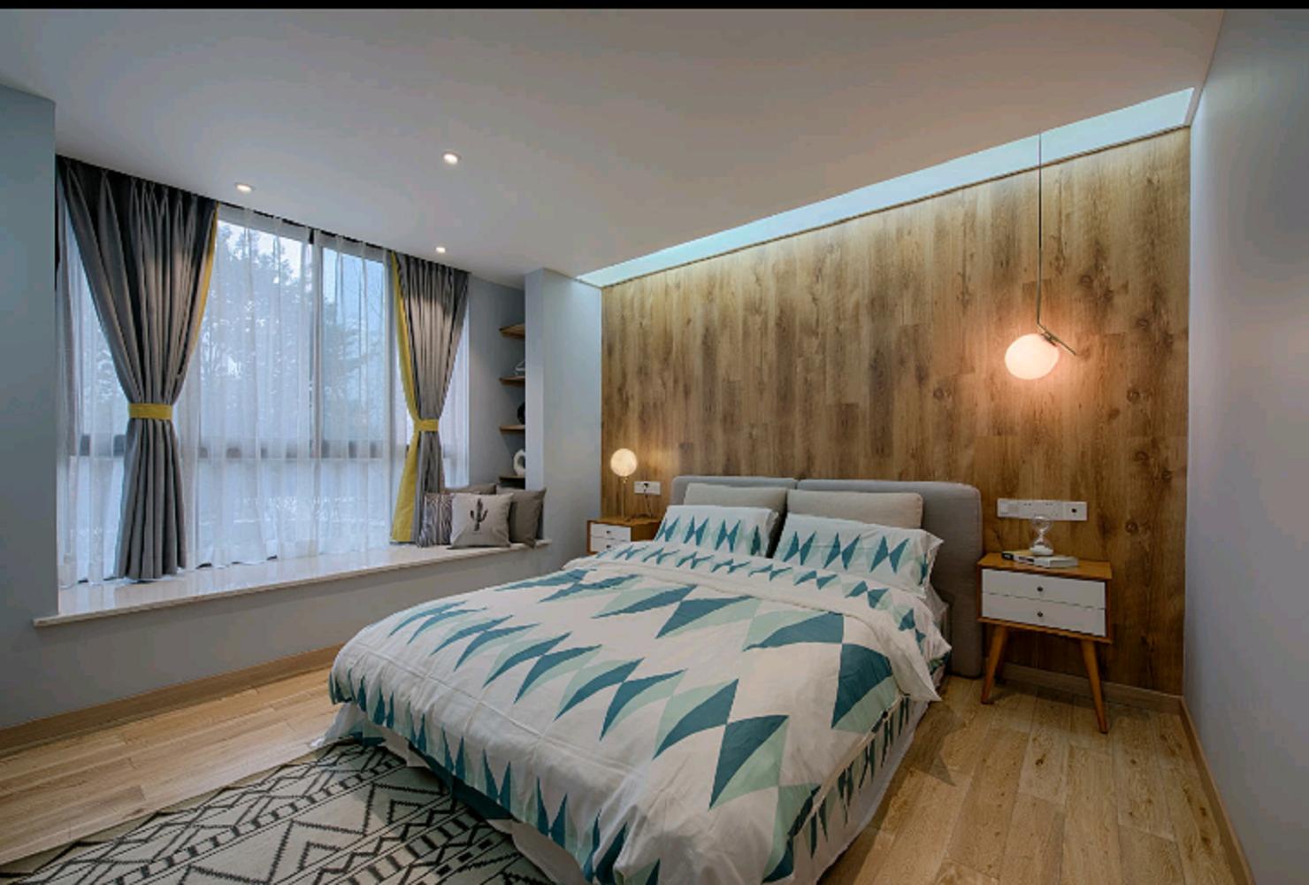 北欧公寓装修卧室效果图