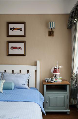 美式复式别墅装修床头背景墙图片