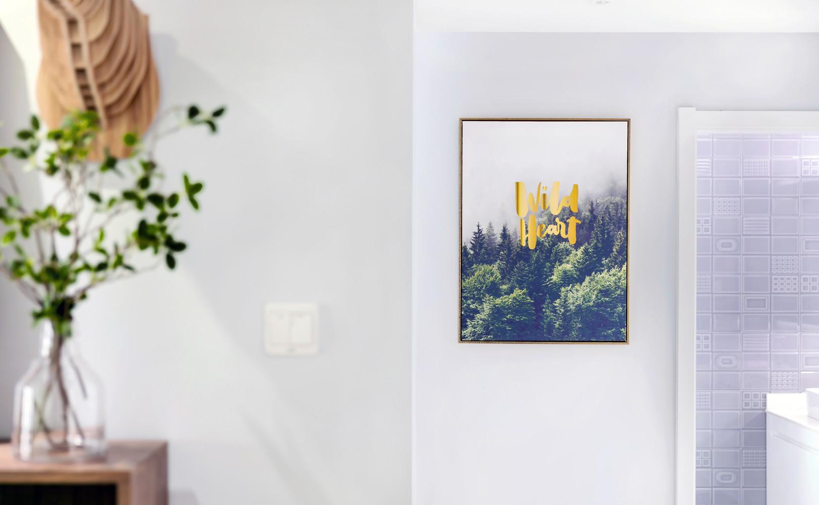 110㎡北欧风装修装饰画图片