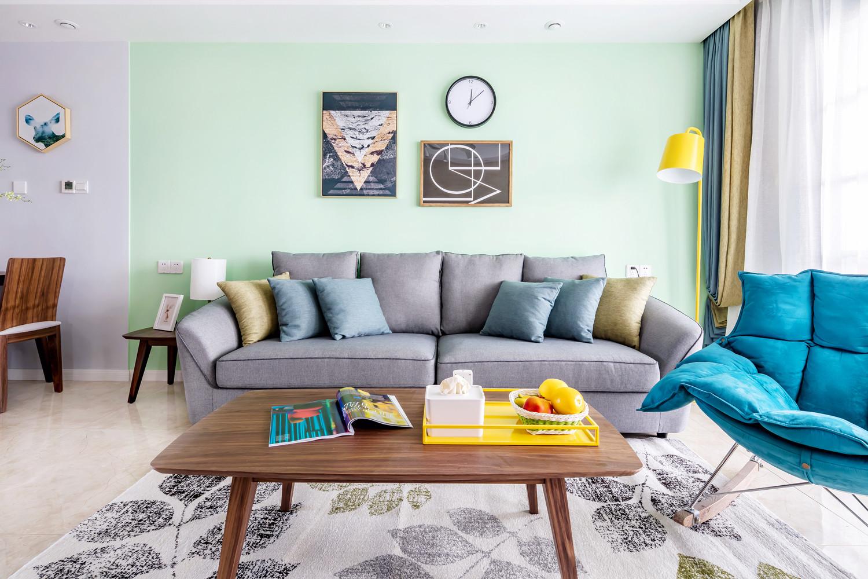 110㎡北欧风装修沙发图片
