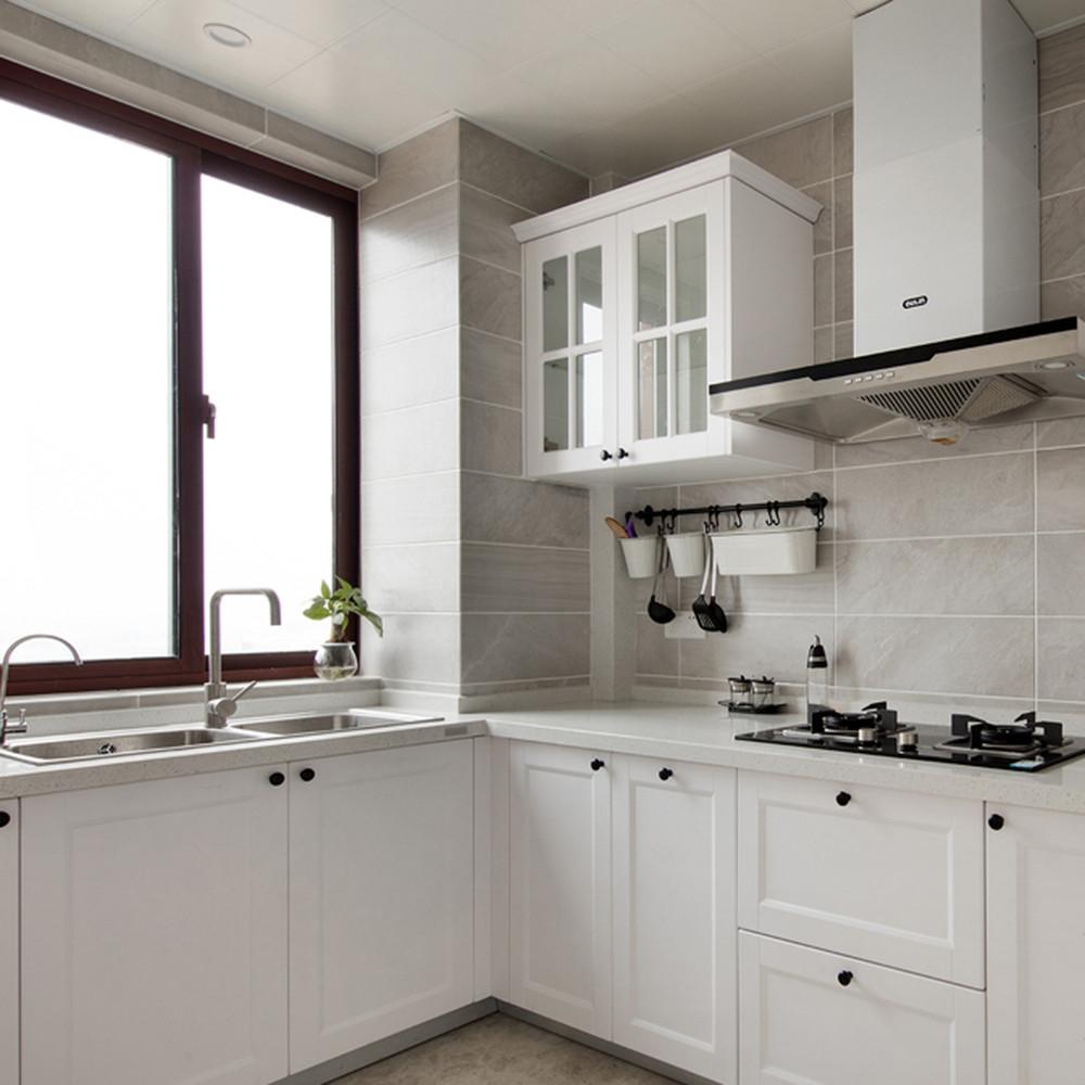 美式清新三居装修厨房效果图