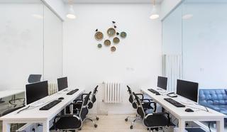 简约优雅办公室装修实景图