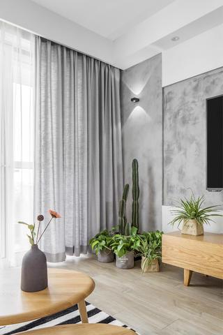 简约舒适北欧二居装修绿植图片