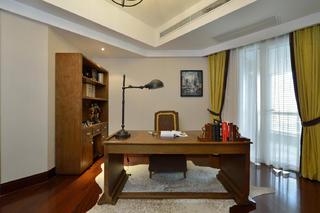 三居室美式空间装修书房设计图