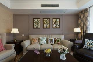 美式三居装修设计沙发图片