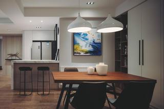 140平现代简约家装修餐厅效果图