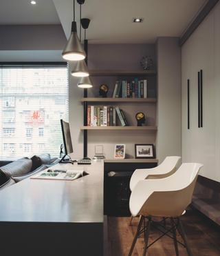 140平现代简约家装修书桌图片