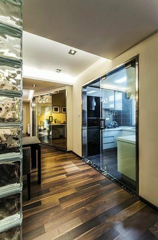 106平现代简约家玻璃移门设计
