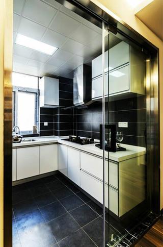 106平现代简约家厨房效果图