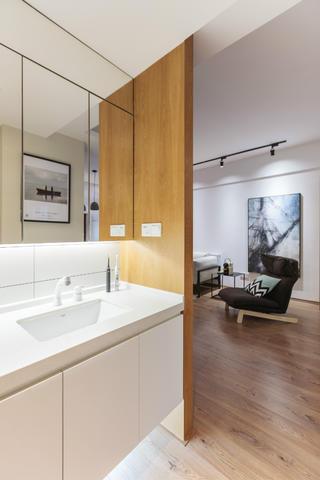 简洁北欧二居装修洗手台图片