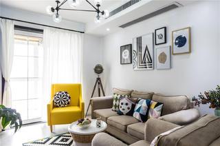 混搭二居装修沙发背景墙图片