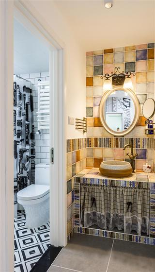 混搭二居装修洗手台图片