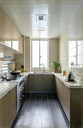 103平简约装修厨房构造图