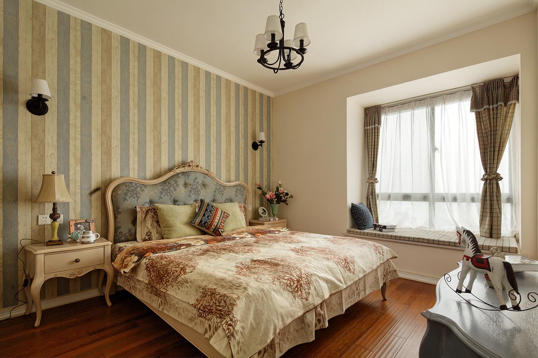 三居室田园风格家卧室效果图