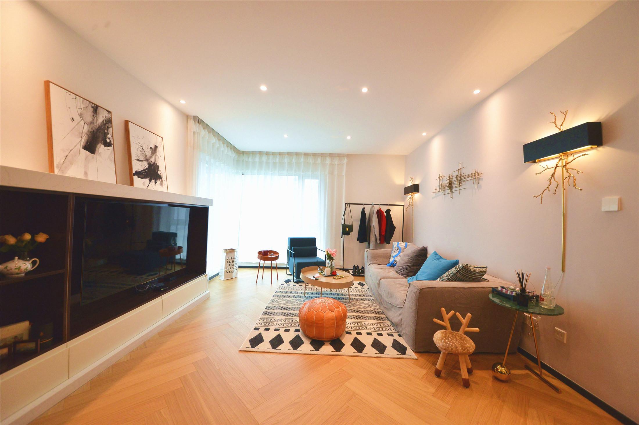70平一居室小家电视墙设计图