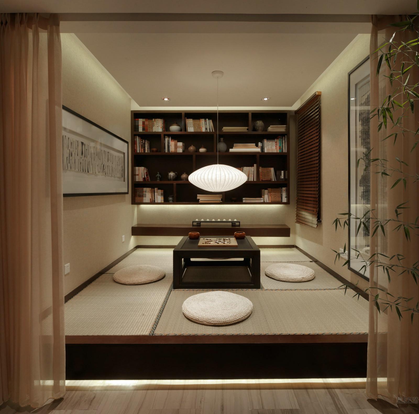 大户型新中式书房设计图