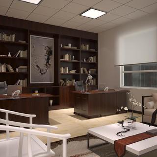 现代简约办公室装修设计图