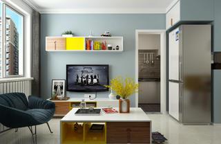 80㎡宜家风格设计电视背景墙图片