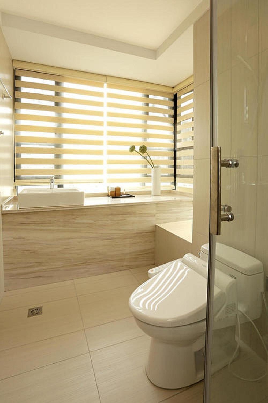日式二居装修卫生间装潢图