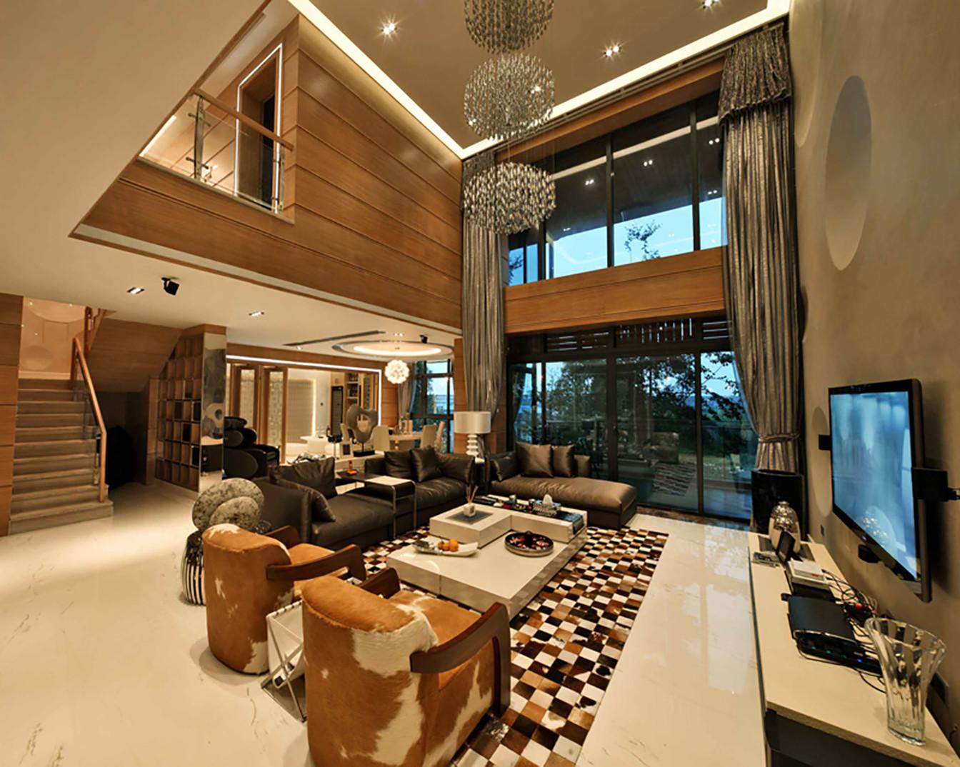 现代别墅装修客厅设计图