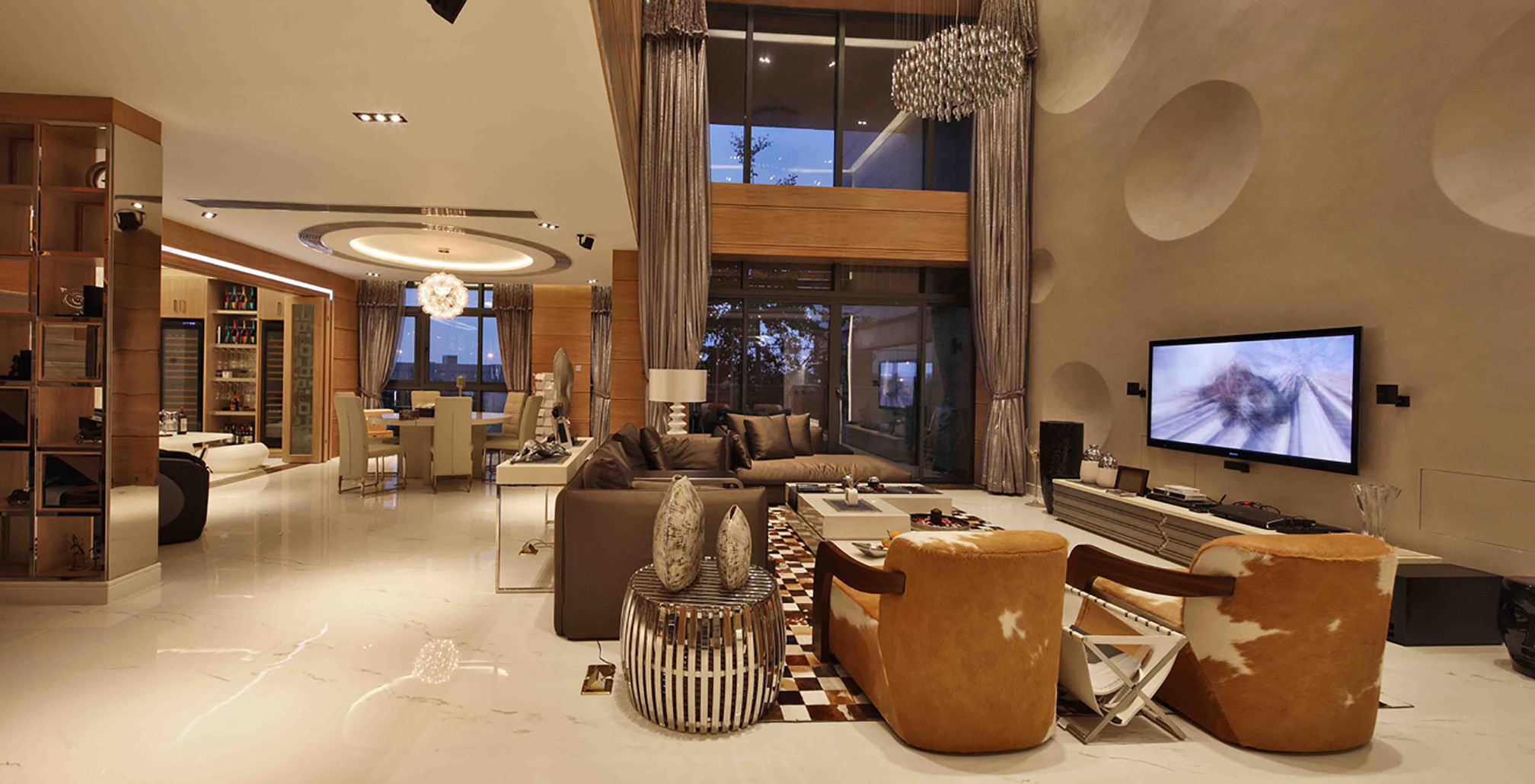 现代别墅装修客餐厅欣赏图