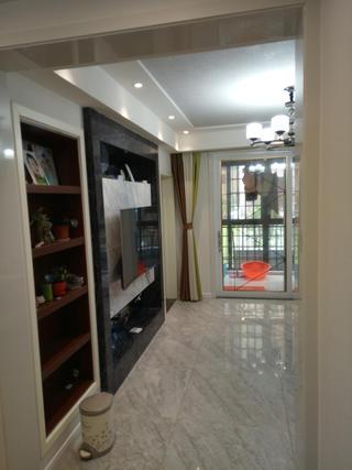 90平简约二居室装修客厅过道