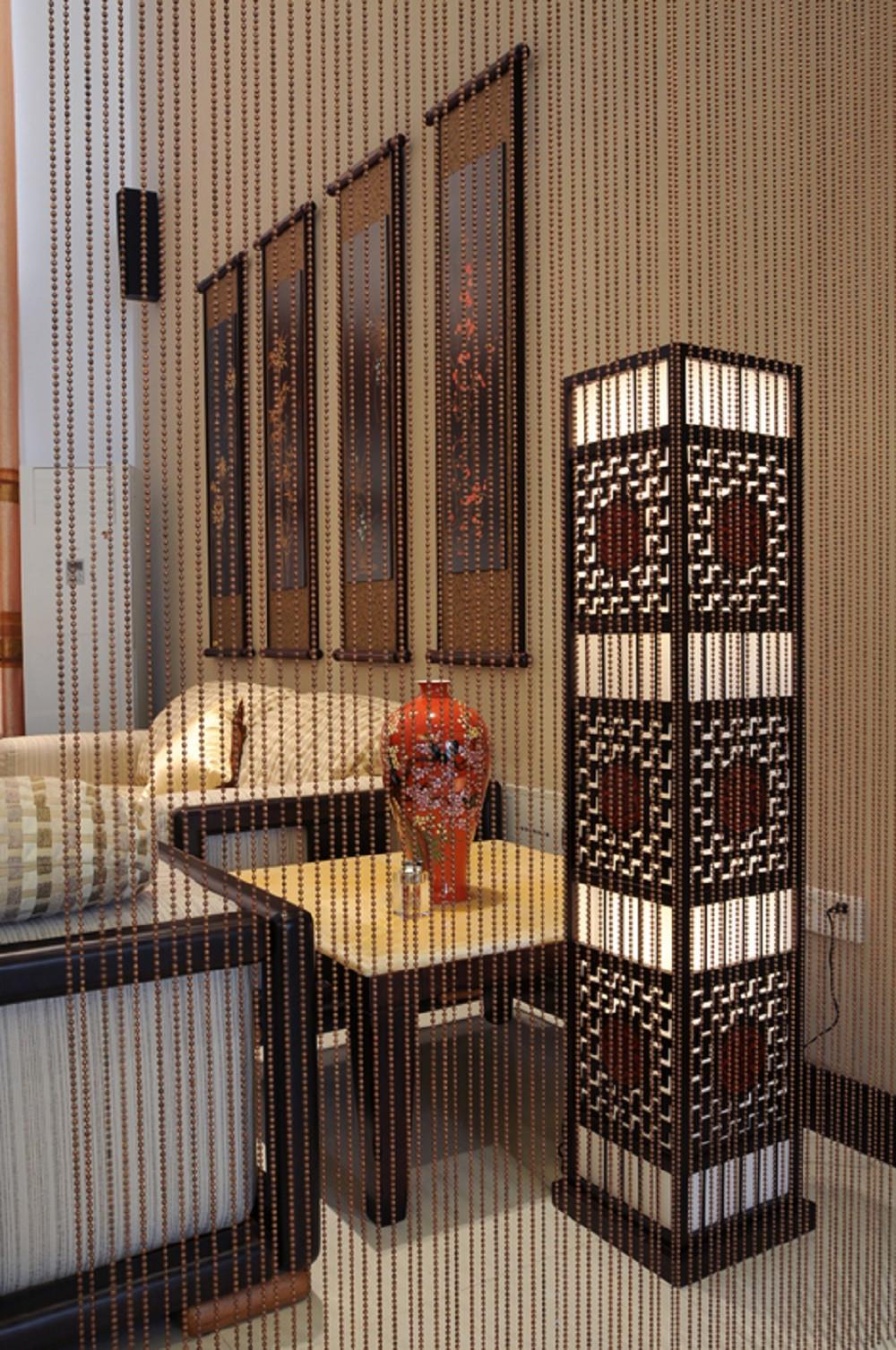 中式风复式装修沙发一隅