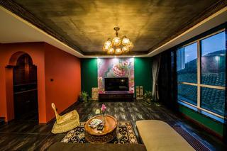 157平东南亚风格装修电视背景墙图片