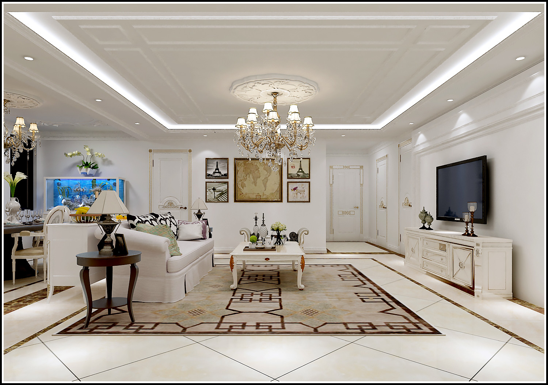 新古典三居装修客厅效果图