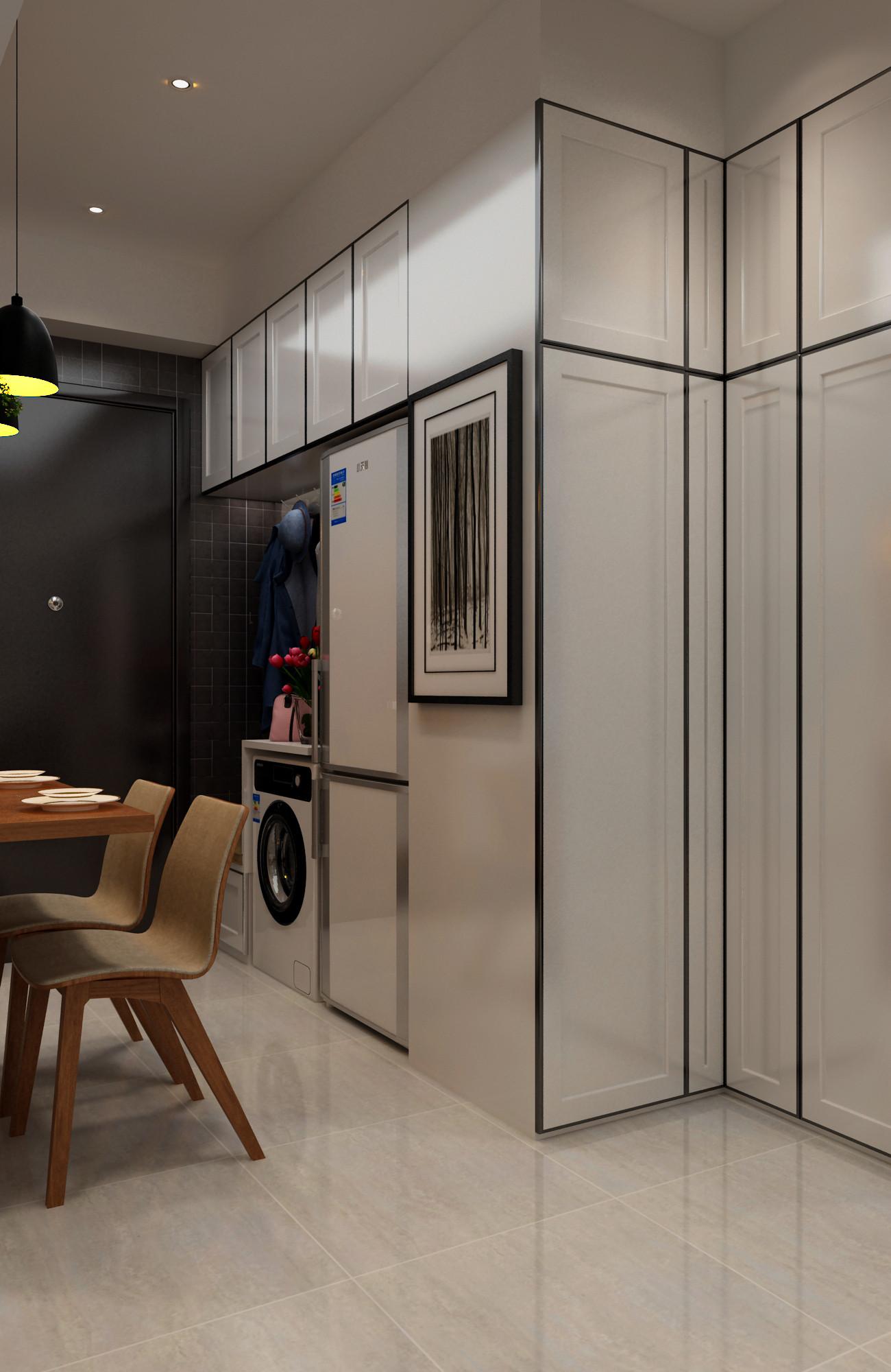 一居室小户型装修餐边柜图片