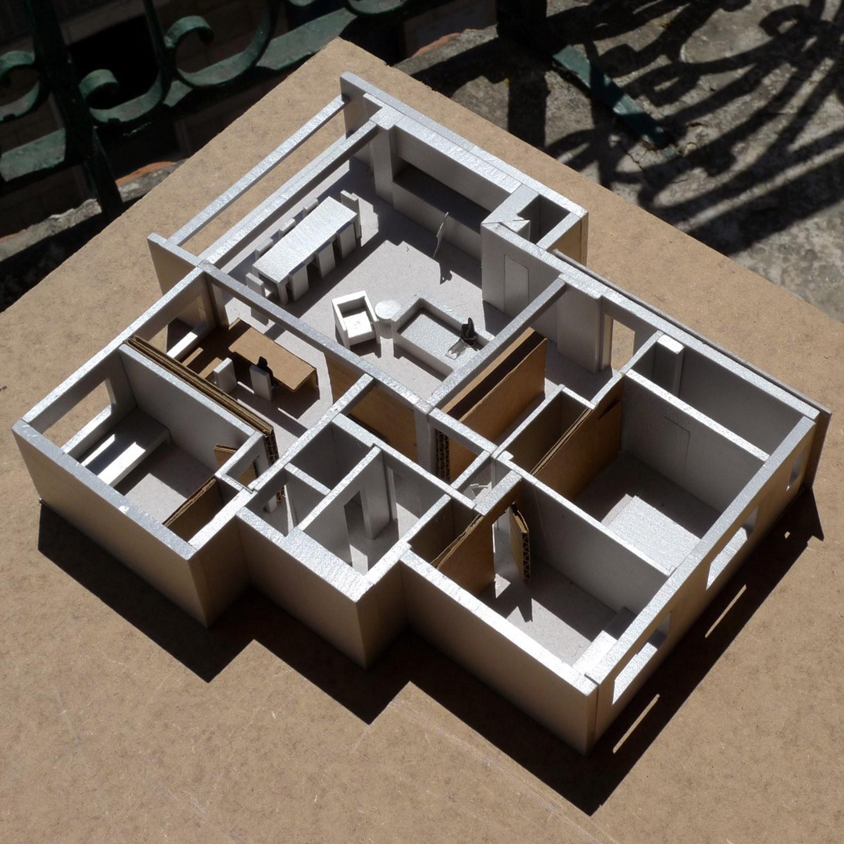 公寓简约装修户型模型图