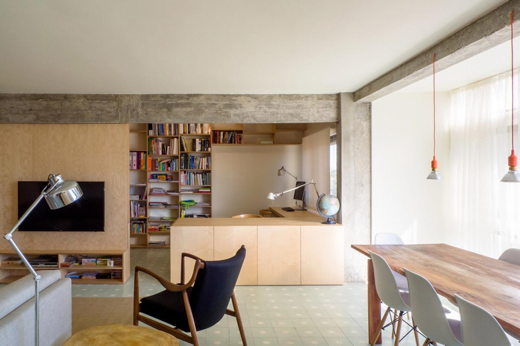 公寓简约装修开放式书房欣赏图