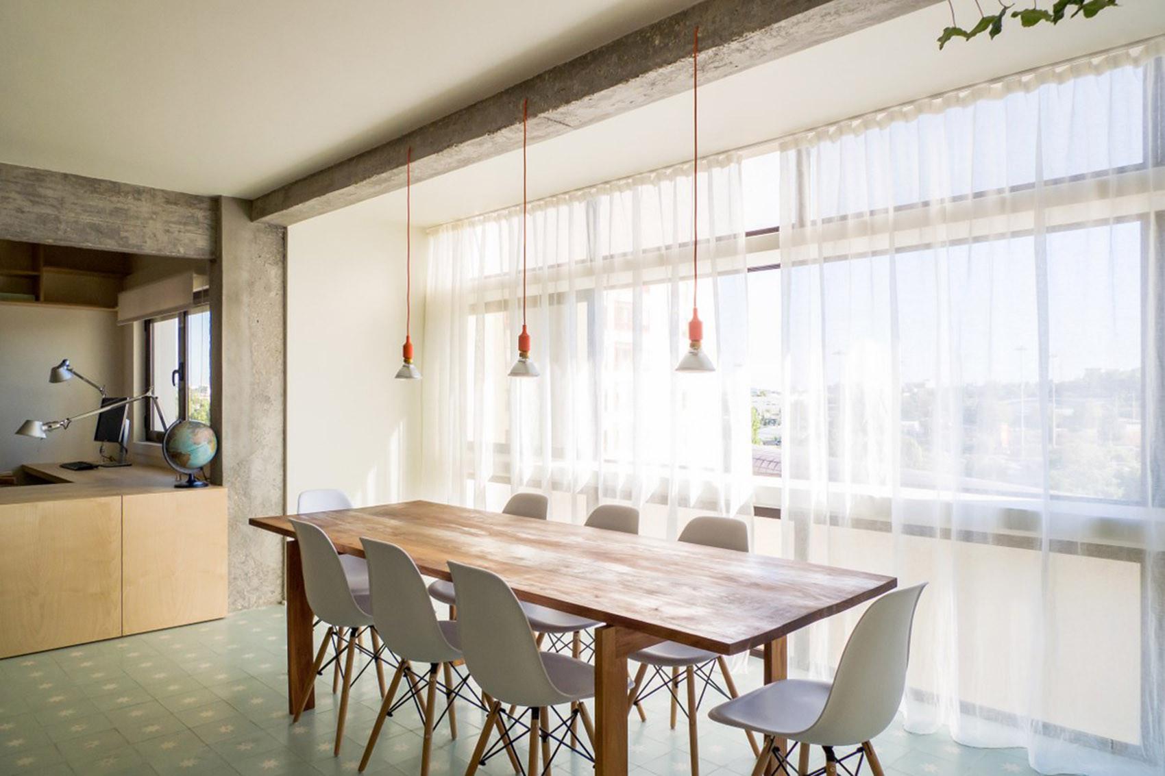 公寓简约装修餐桌椅图片
