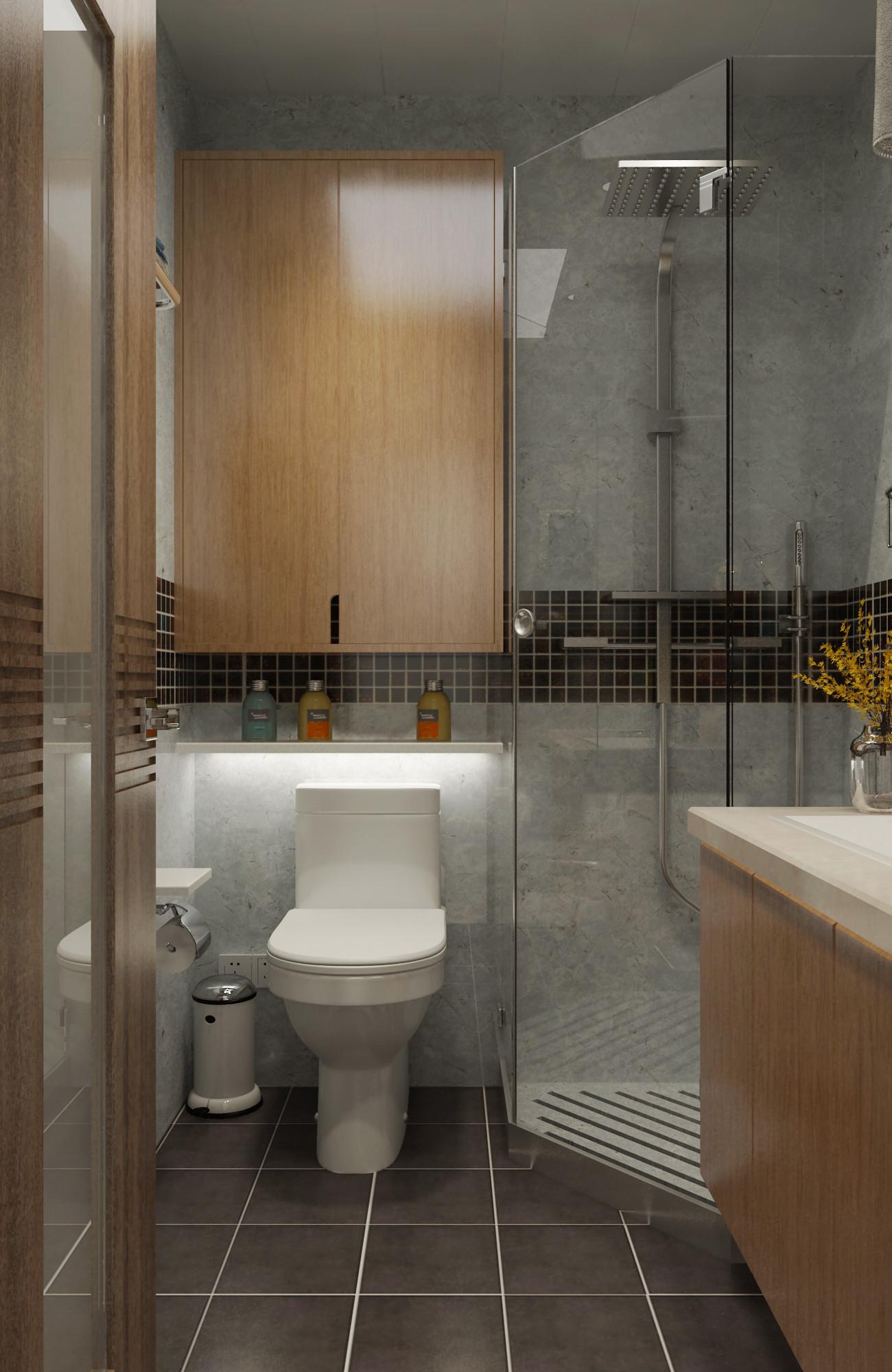 现代简约三居装修卫生间效果图